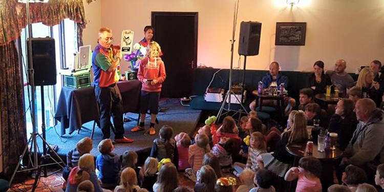 Our kids magic show is always very popular.