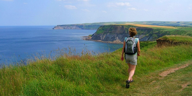 Walking the Cleveland Way on the Yorkshire Coast